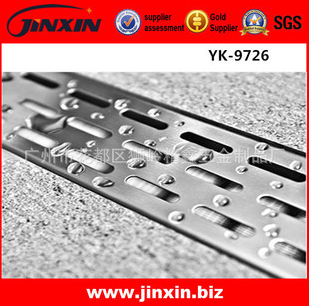 厂家供应 304不锈钢速排水长款地漏YK-9720